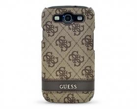 GUS34GBR Guess 4G hnědý Zadní Kryt pro Samsung Galaxy S3 (EU Blister)