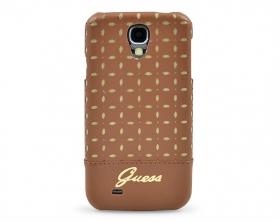 GUHCS4PEC Guess Gianina Zadní Kryt koňak Samsung Galaxy S4