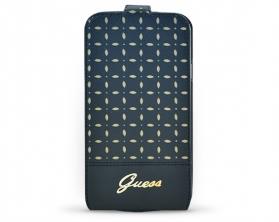 GUFLS5PEB Guess Gianina Flipové Kožené Pouzdro černé Samsung Galaxy S5