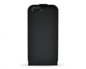 BMW M Collection Otvírací Pouzdro Carbon pro Apple iPhone 6 4.7″ – černé