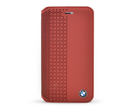 BMFLBKP6PER BMW Book Pouzdro PerForated červená Pro Apple iPhone 6 4.7″