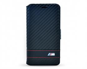 BMFLBKGAMCC BMW M Collection Book Pouzdro Carbon pro Samsung Galaxy Alpha černé