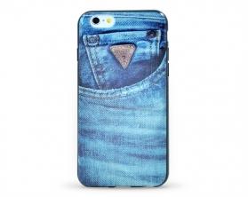 GUMHCP6DE Guess TPU Pouzdro pro Apple iPhone 6 4.7″ modré jeany