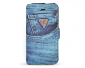 GUMFLBKP5DE Guess Denim Book Pouzdro Jeans pro Apple iPhone 5/5S