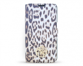 GUFLBKS6SPCH Guess Animalier Book Pouzdro Leopard pro Samsung Galaxy S6