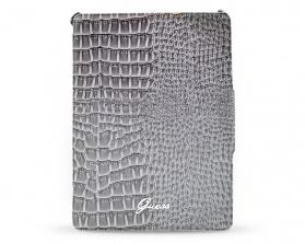 GUP2CRG Guess Pliant Croco šedivé Pouzdro iPad 2/3/4