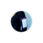 Pouzdro na ruku pro Apple iPhone 6 Plus – fialové