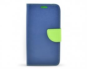 Book case Fancy LG K10 tmavě modrá/limetková