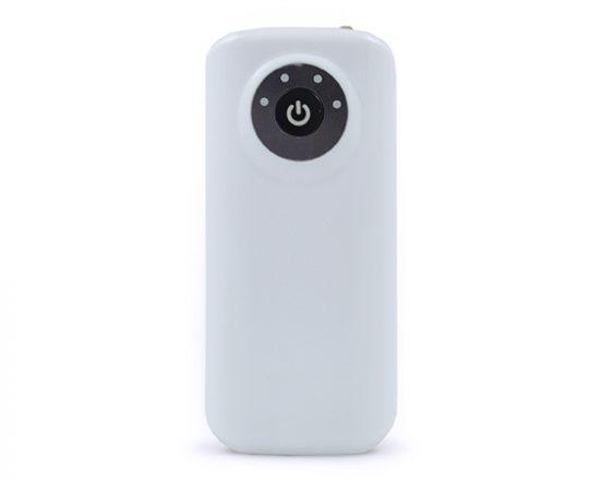 Power Bank 5600 mAh v bílé barvě