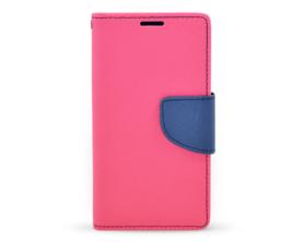 Book case Fancy Samsung Galaxy A3 tmavě růžová/tmavě modrá