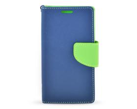 Book case Fancy Samsung Galaxy A5 tmavě modrá/limetková