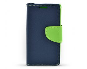 Book case pro Samsung Galaxy Core 2 tmavě modré/limetkové