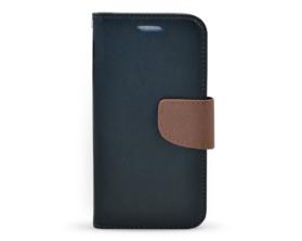 Book case Fancy HTC One M9 černá/hnědá