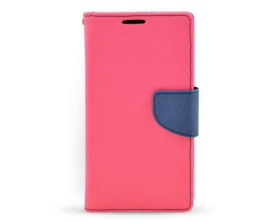 Book case Fancy LG G3 tmavě růžová/tmavě modrá