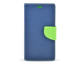 Book case Fancy Huawei Y625 tmavě modrá/limetková