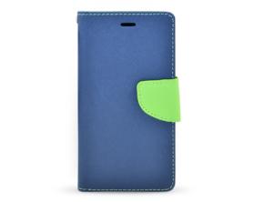 Book case Fancy Huawei P8 tmavě modrá/limetková