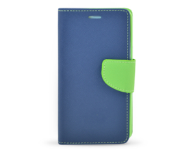 Book case Fancy Samsung Galaxy A5 2016 tmavě modrá/limetková