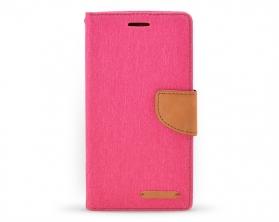 Book case Canvas Huawei Honor 4X růžová/hnědá