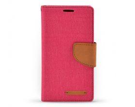 Book case Canvas pro Samsung Galaxy A5 růžovohnědé