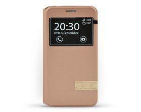 Pouzdro USAMS Muge S-View pro Samsung Galaxy J3 zlatorůžové