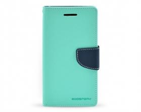 Fancy diary case HTC M9 mintová/tmavě modrá