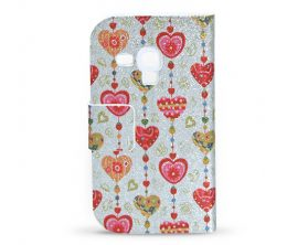 Book case Srdce pro Samsung Galaxy S3 mini (vzor 5) – limitovaná edice!
