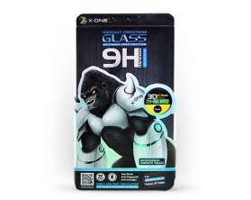 Tvrzené sklo X-ONE pro Samsung Galaxy S7 EDGE 3D Full Face 9H zlaté