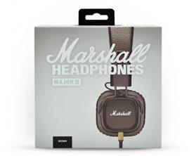 Sluchátka Marshall Major II v hnědé barvě