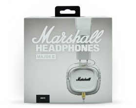 Sluchátka Marshall Major II v bílé barvě