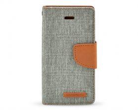 Pouzdro Mercury Canvas Diary pro Apple iPhone 5/5S/SE šedohnědé