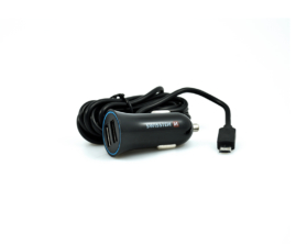 Swissten USB adaptér do auta + kabel micro USB 1,5m černý
