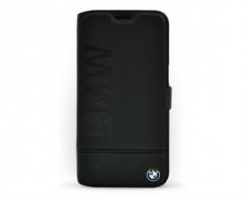 Pouzdro BMW pro Samsung Galaxy S7 EDGE kožené v černé barvě
