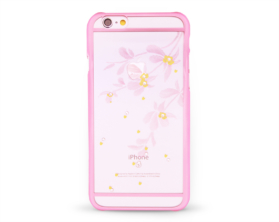 Kryt DEVIA Flowery Swarovski Apple iPhone 6/6S růžový