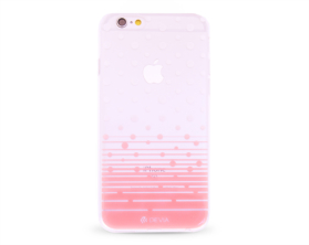 Kryt DEVIA Polka Apple iPhone 6/6S růžový