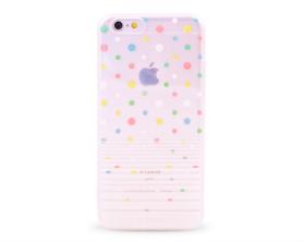 Kryt DEVIA Polka Apple iPhone 6/6S bílý