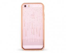 Kryt DEVIA Meteor Swarovski Apple iPhone 5S/SE zlatý