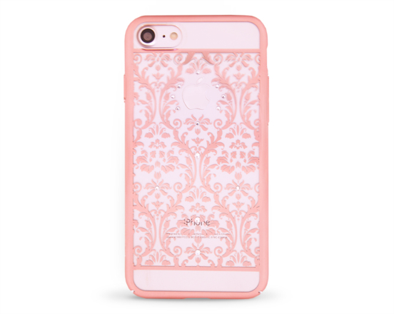 Kryt DEVIA Baroque Swarovski Apple iPhone 7 růžový