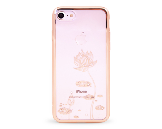 Kryt DEVIA Lotus Swarovski Apple iPhone 7 zlatý