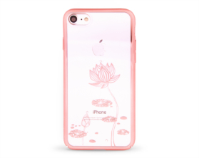 Kryt DEVIA Lotus Swarovski Apple iPhone 7 růžový