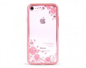 Kryt DEVIA Joyous Swarovski Apple iPhone 7 růžový