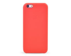 Kryt hard case kůže logo Apple iPhone 6 červený