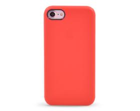 Kryt hard case kůže logo Apple iPhone 7 červený
