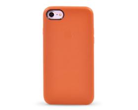 Kryt hard case kůže logo Apple iPhone 7 hnědý