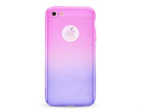 Kryt 360 protect hard case +ochranné sklo Apple iPhone 5 růžový/modrý