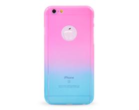 Kryt 360 protect hard case +ochranné sklo Apple iPhone 6 růžový/modrý