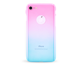 Kryt 360 protect hard case +ochranné sklo Apple iPhone 7 růžový/modrý