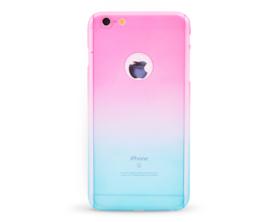 Kryt 360 protect hard case +ochranné sklo Apple iPhone 6 plus růžový/modrý