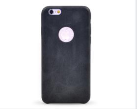 Kryt hard case kůže Apple iPhone 6 černý