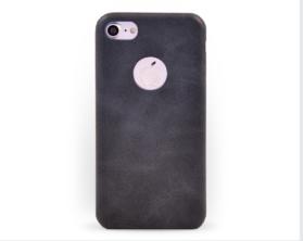 Kryt hard case kůže Apple iPhone 7 černý