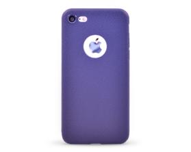Kryt Luxury Ultra thin Leather Skin Soft TPU Apple iPhone 7 modrý